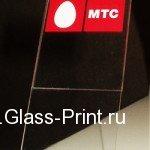 Нанесение логотипа на акрил - подставка из акрилового стекла, шелкография